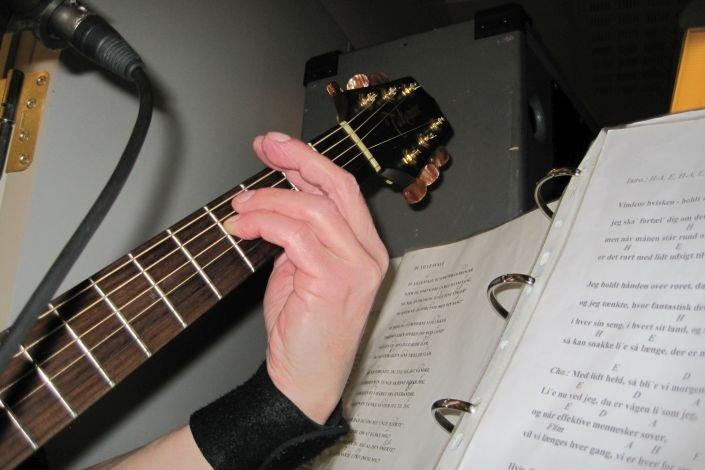 Guitar og nodeark