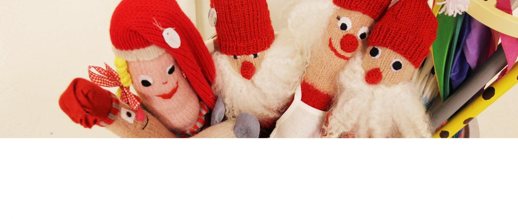 Julemænd i strik
